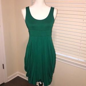 Green Cotton Stretch Dress